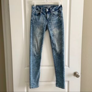 American Eagle Skinny Long Stretch Jeans Size 2